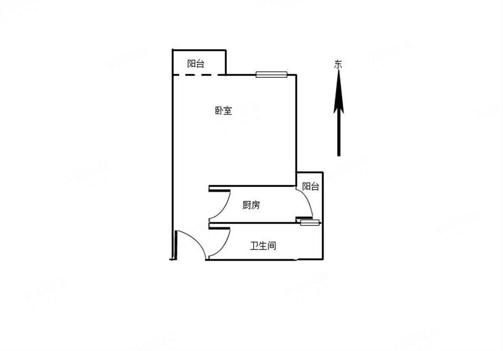 花乡家园 标准一房 双阳台 中间楼层好 满5红本