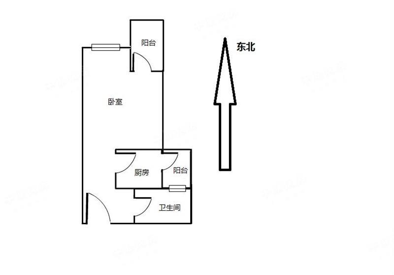 宝体花乡家园 28平单间双阳台 满两年税少