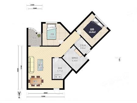 新洲花园大厦-户型图