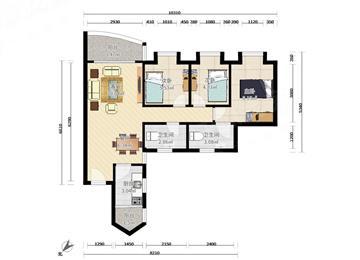 沃尔玛楼上 精装修3房 看房方便 带家私电器 看房约
