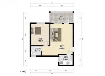 大澎花园大一房一厅 可改两房 近新秀地铁 楼层高采光好