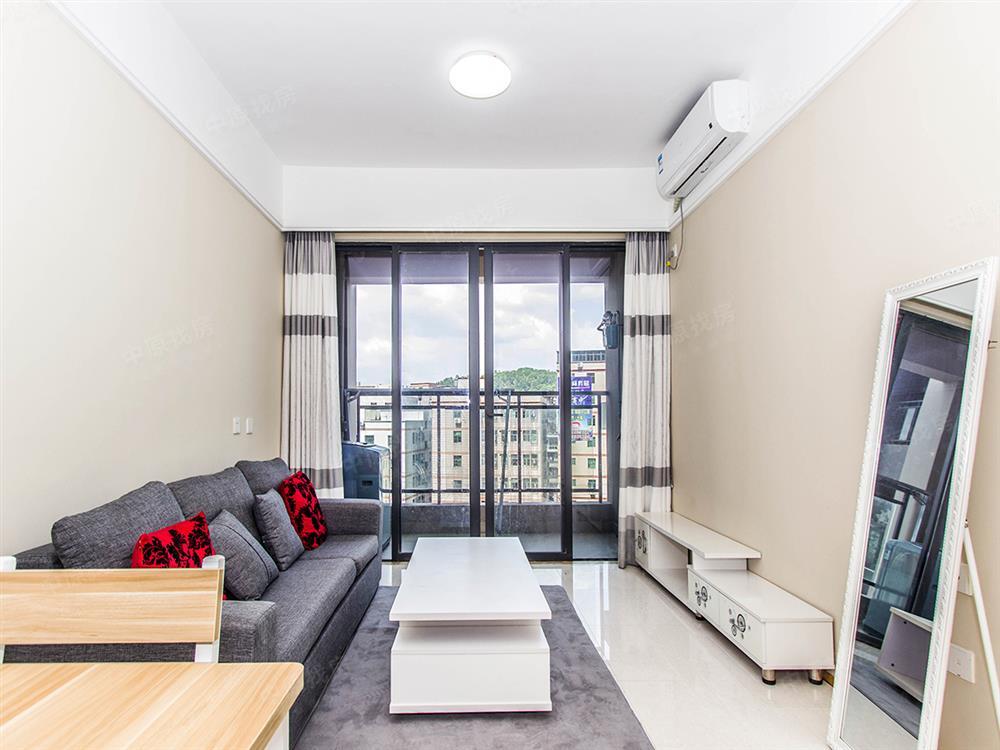 横岗商业综合体雨馨公寓精装67平2房户型通透安静红本税费少