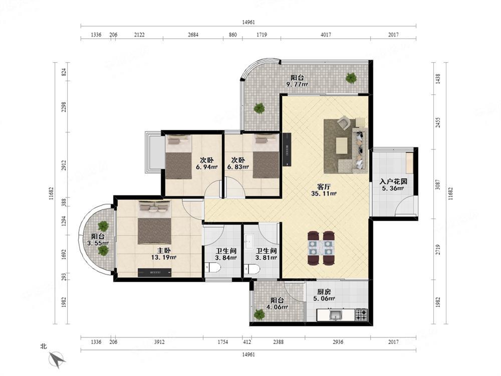 碧海湾 精装大三房可改四房 满五年税少 學位可用锦明花园
