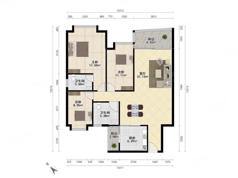 高楼层三房 户型方便 满两年 看房方便 价格美丽