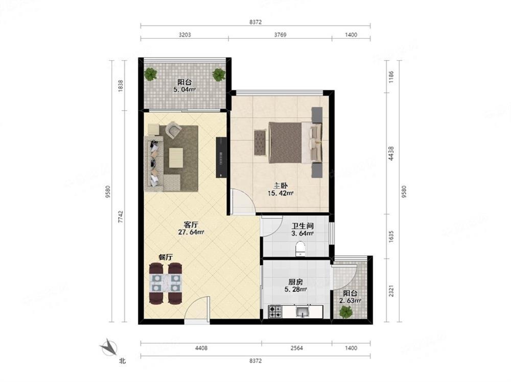 兰溪谷二期 已改好两房 看房方便 业主诚心卖 装修保养好