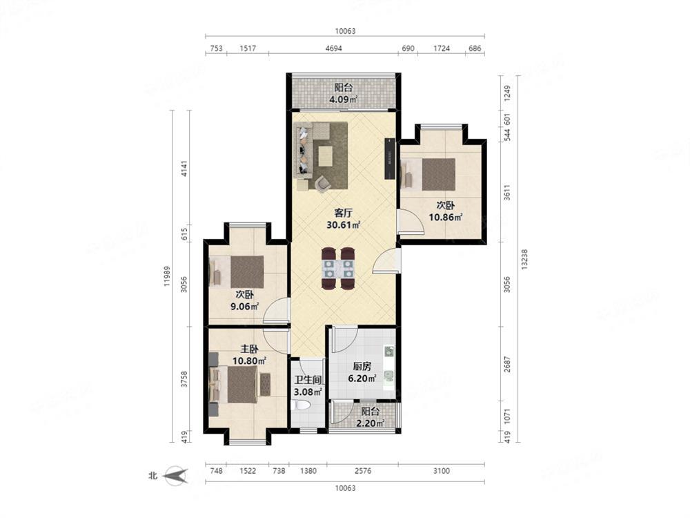 鹏达花园 精装大三房 厅出阳台 满5年 税少  看房有钥匙
