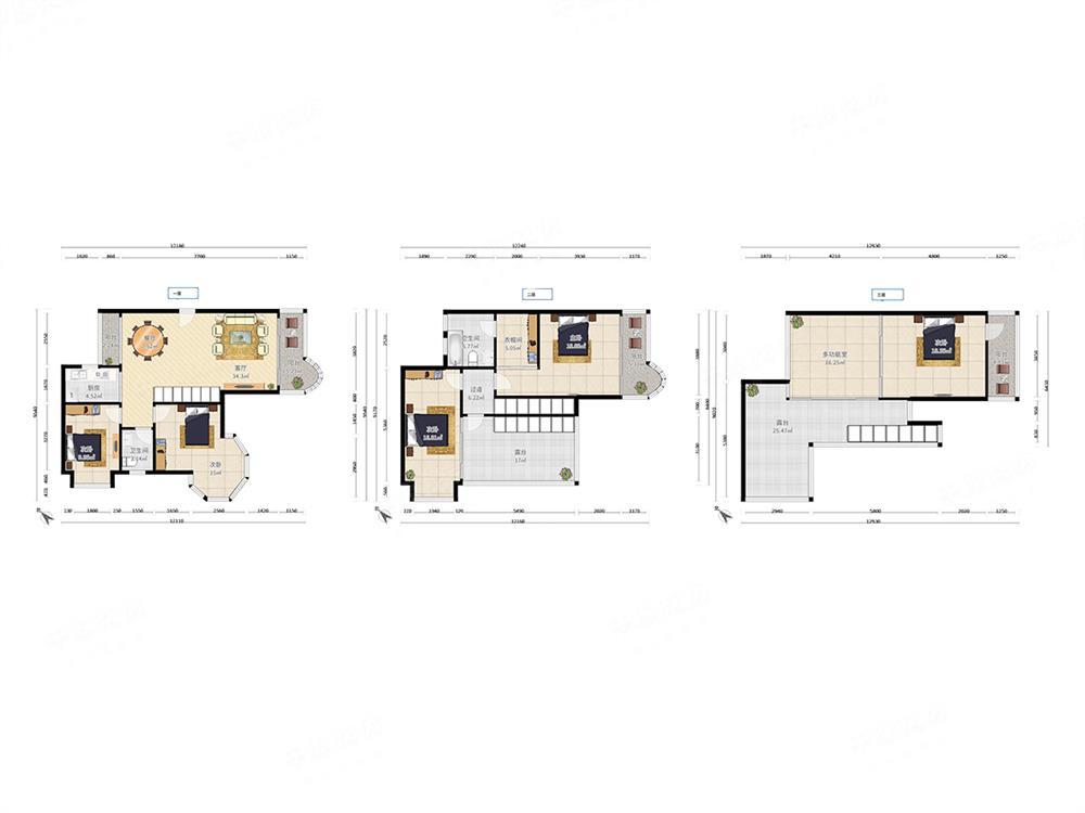 好房推荐  九州家园  三层顶楼复式  带两个大露台 满五年