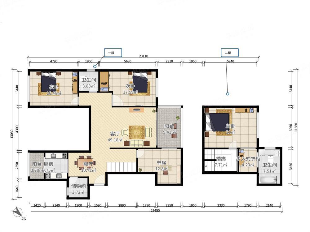 山海家园 中间楼层 东南向 大3房 精装修 看房预约